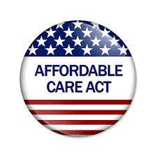 Affordable Care Act American Flag Button