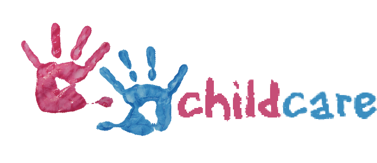 Childcare hand print banner